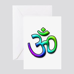 Rainbow OM Greeting Card