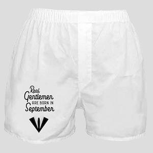 Real Gentlemen are born in September Boxer Shorts
