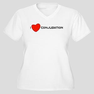 I love conjugation Women's Plus Size V-Neck T-Shir