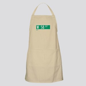 58th Street in NY BBQ Apron