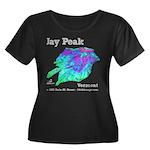 Jay Peak Resort Women's Plus Size Scoop Neck Dark