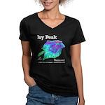Jay Peak Resort Women's V-Neck Dark T-Shirt