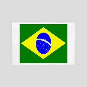 Flag of Brazil 4' x 6' Rug