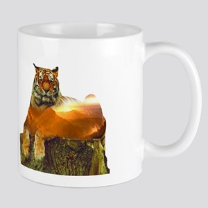 Tiger Double Exposure Mugs
