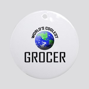 World's Coolest GROCER Ornament (Round)