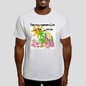 Honeymoon St. Lucia White T-Shirt