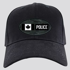 Canadian Police  Black Camouf Black Cap with Patch 790e205434e