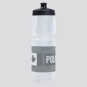Canadian Police: Black Camouflage Sports Bottle