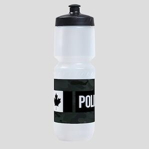 Canadian Police: Black Camouflage Sports Bottle