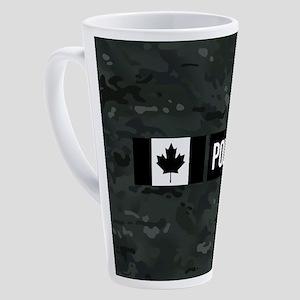 Canadian Police: Black Camouflage 17 oz Latte Mug
