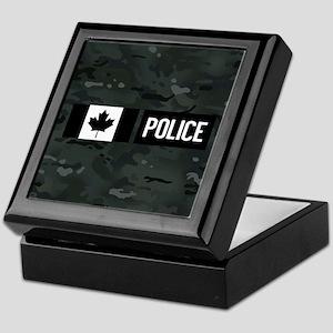 Canadian Police: Black Camouflage Keepsake Box
