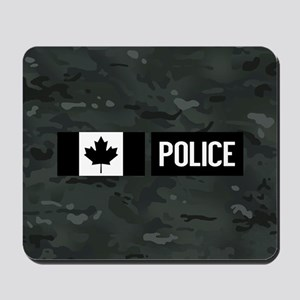 Canadian Police: Black Camouflage Mousepad