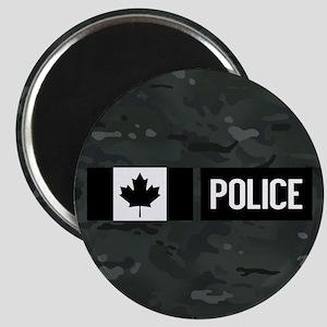 Canadian Police: Black Camouflage Magnet