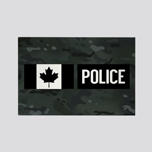 Canadian Police: Black Camouflage Rectangle Magnet