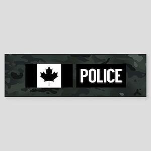 Canadian Police: Black Camouflage Sticker (Bumper)