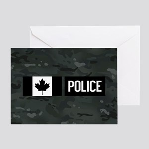 Canadian Police: Black Camouflage Greeting Card