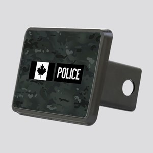 Canadian Police: Black Cam Rectangular Hitch Cover
