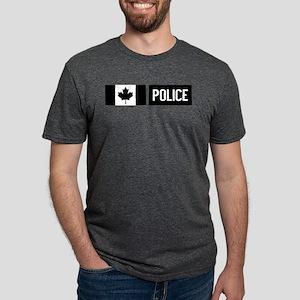 Canadian Police: Black Flag Mens Tri-blend T-Shirt