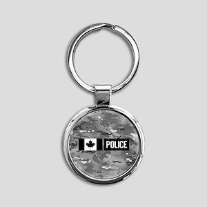 Canadian Police: Urban Camouflage Round Keychain
