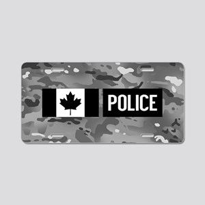 Canadian Police: Urban Camo Aluminum License Plate