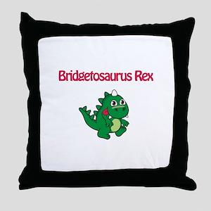 Bridgetosaurus Rex Throw Pillow