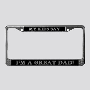 Great Dad License Plate Frame