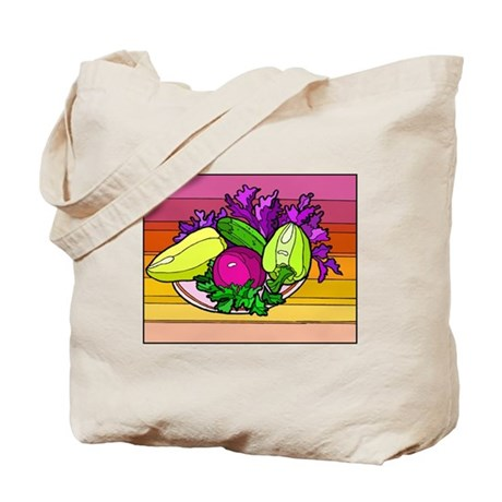 colorful Assorted Veggies Tote Bag