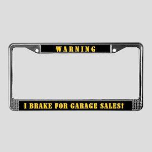 Garage Sale License Plate Frame