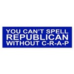 C-R-A-P Bumper Sticker