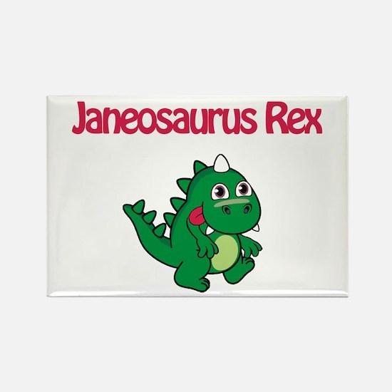 Janeosaurus Rex Rectangle Magnet