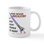 money to burn Mug