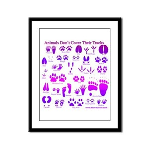 Purple Tracks Framed Panel Print