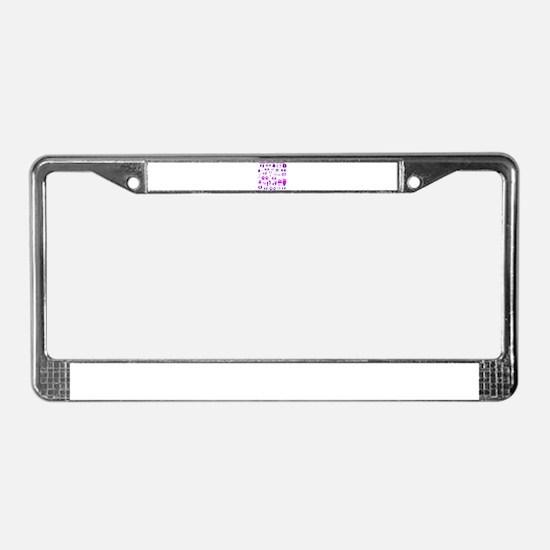 Purple Tracks License Plate Frame