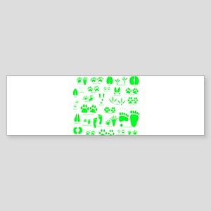 Green Tracks Bumper Sticker