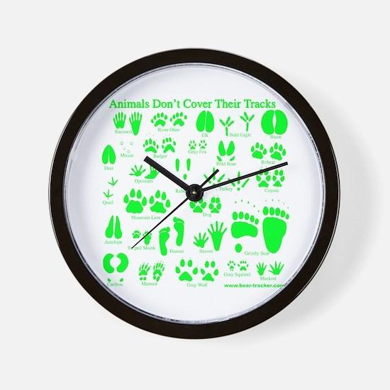 Green Tracks Wall Clock