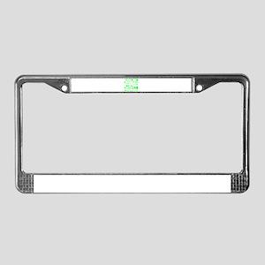 Green Tracks License Plate Frame