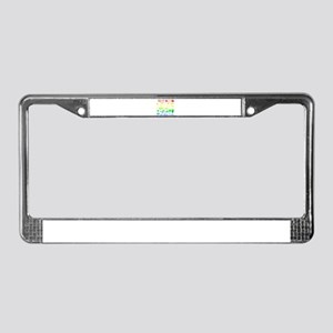 Colorful Rainbow License Plate Frame