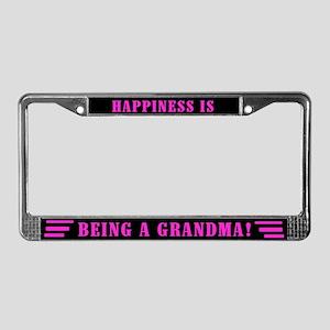 Happy Grandma License Plate Frame