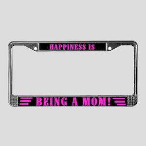 Happy Mom License Plate Frame