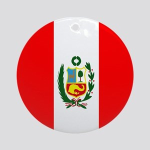 Flag of Peru Round Ornament