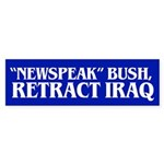 RETRACT IRAQ Bumper Sticker