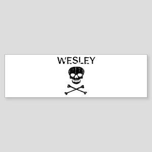 WESLEY (skull-pirate) Bumper Sticker