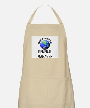 World's Coolest GENERAL MANAGER BBQ Apron