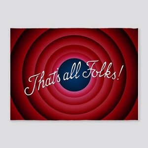 That's all Folks 5'x7'Area Rug