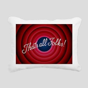 That's all Folks Rectangular Canvas Pillow