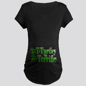T-Turtley Terrific Maternity Dark T-Shirt