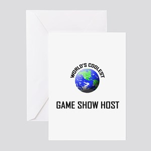 World's Coolest GAME SHOW HOST Greeting Cards (Pk
