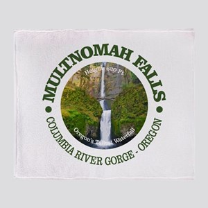 Multnomah Falls Throw Blanket