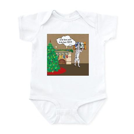 Waiting For Santa Dalmation Christmas Infant Bodys