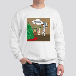 Waiting For Santa Dalmation Christmas Sweatshirt